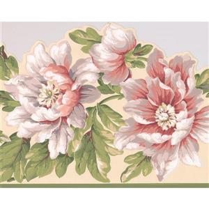 York Wallcoverings Flowers on Vine Wallpaper Border - 15-ft x 10.25-in - White