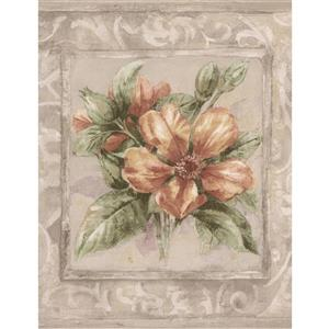 Norwall Flower Bouquets Wallpaper Border - 15' x 9-in