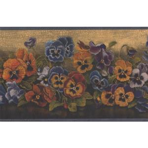 Flowers Floral Wallpaper Border - 15' x 7