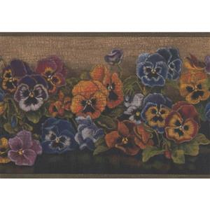 Flowers Floral Wallpaper Border - 15' x 6.75