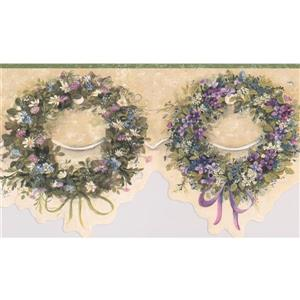 Chesapeake Wreaths Floral Wallpaper Border - 15' x 6.5""