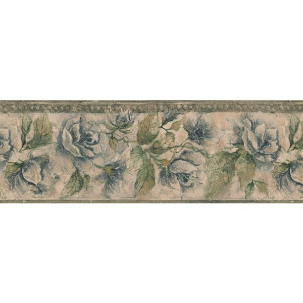 Norwall Bloomed Flowers Wallpaper Border - 15' x 8-in