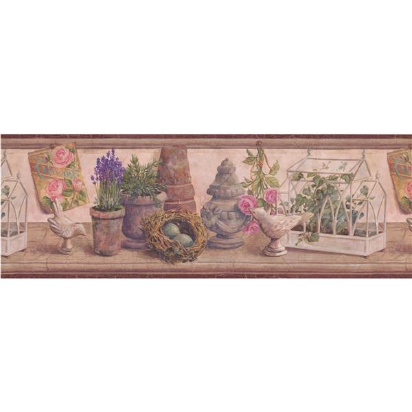 "Chesapeake Vintage Postcard Wallpaper Border - 15' x 8.25"""