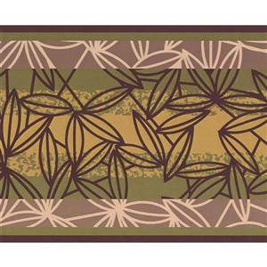 Abstract Leaves Wallpaper Border - 15' x 6
