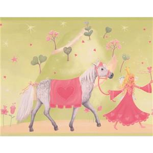 Princess Castle Horse Wallpaper Border - 15' x 9