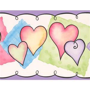 Hearts Wallpaper Border - 15' x 7