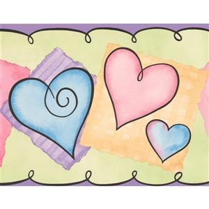 York Wallcoverings Hearts for Kids Bedroom Wallpaper Border - 15-ft x 7-in