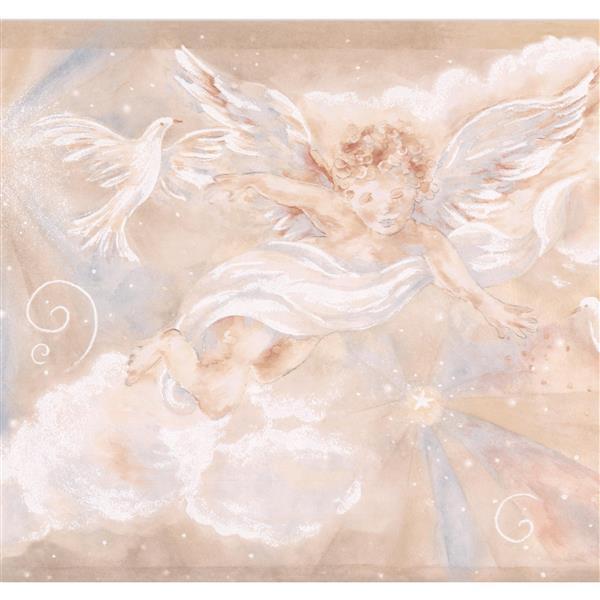 Chesapeake Cupid Dove Clouds Wallpaper Border 15 X 8 5 Beige