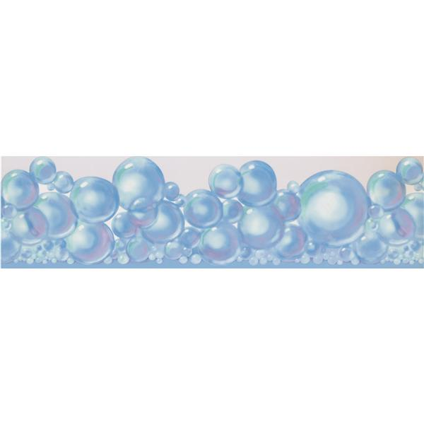 York Wallcoverings Bubbles Bathroom Wallpaper Border - 15-ft x 6.25-in