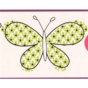 York Wallcoverings Butterflies Wallpaper Border - 15-ft x 7-in - Green