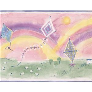 Norwall Rainbows and Kites Wallpaper Border - 15' x 9-in- Multicolour