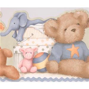 Plush Toys Wallpaper Border - 15' x 9.75