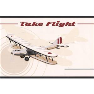 Airplane Helicopter Wallpaper Border - 15' x 6