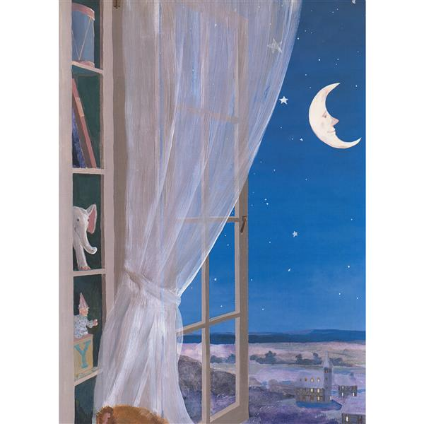 York Wallcoverings Window to the Night Wallpaper Border - 15-ft x 18-in - Blue
