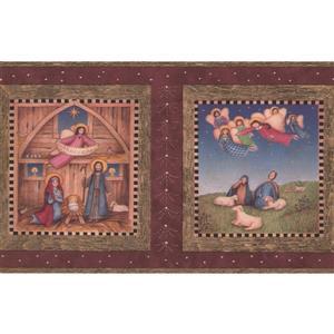 "Chesapeake Hosanna Religious Wallpaper Border - 15' x 7"" -  Brown"