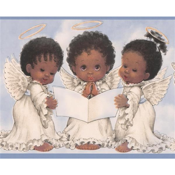 "Chesapeake Baby Angels Wallpaper Border - 15' x 6"" - Blue"