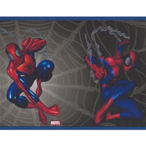 York Wallcoverings Spiderman Wallpaper Border - 15-ft x 7-in - Black