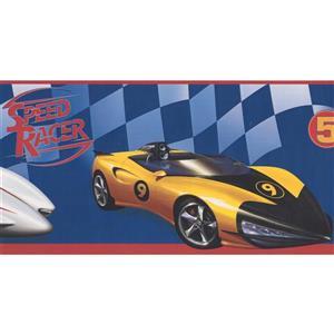 York Wallcoverings Speed Racer Race Cars Wallpaper Border - 15-ft x 6-in - Blue