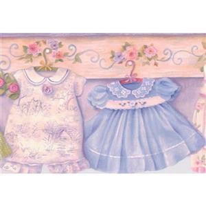 Baby Clothes Wallpaper Border - 15' x 6.5