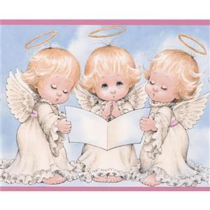 Angel Kids Wallpaper Border - 15' x 6.25