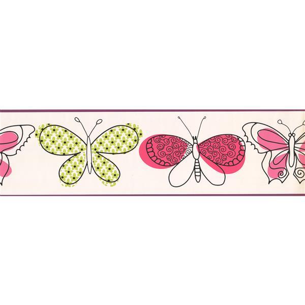 York Wallcoverings Butterfly Wallpaper Border - 15-ft x 7-in