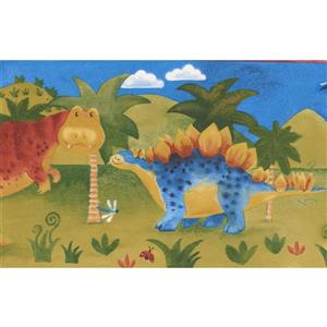 "Chesapeake Cartoon Dinosaur Wallpaper Border - 15' x 7"" - Multicolour"