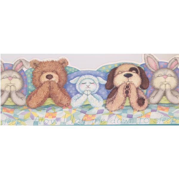 York Wallcoverings Teddy Bear Wallpaper Border - 15-ft x 11.7-in - Multicolour