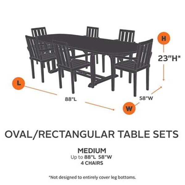 Classic Accessories 709 Veranda Rectangular/Oval Patio Table