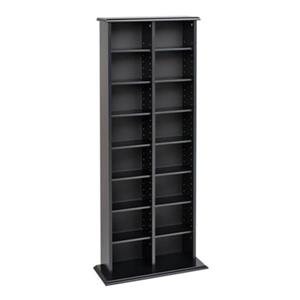 Prepac Furniture Double Multimedia Storage Tower