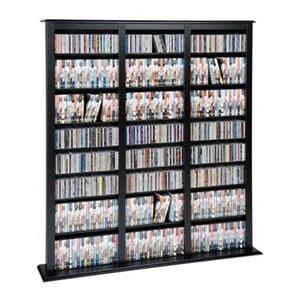Prepac Furniture Triple Width Barrister Tower Multimedia Storage