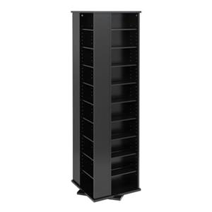 Prepac Furniture Large 4-Sided Spinning Multimedia Storage Tower