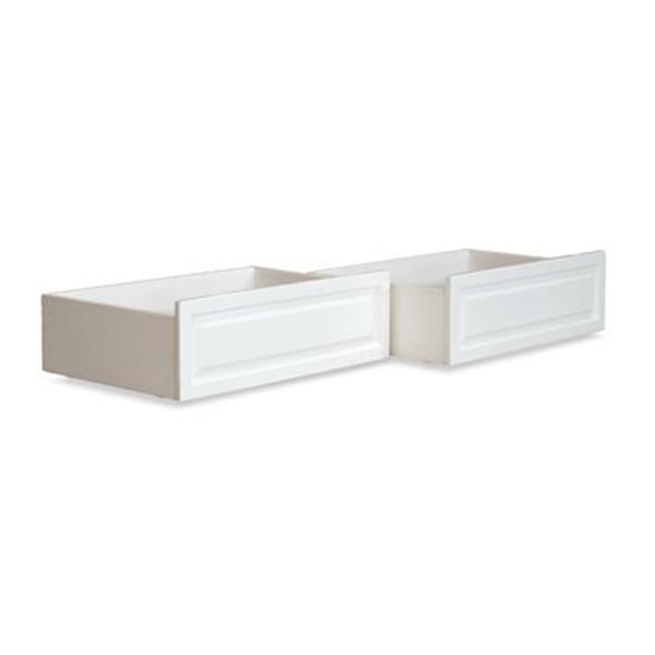 Atlantic Furniture Raised Panel Bed Drawer Twin-Full White