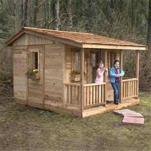 Outdoor Living Today CCP97 9-ft x 7-ft Cedar Cozy Cabin Play