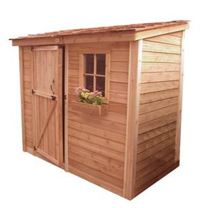 Outdoor Living Today 8-ft x 4-ft Cedar SpaceSaver Shed with