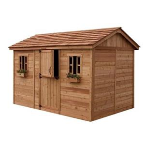 Outdoor Living Today 12-ft x 8-ft Cedar Cabana Garden Shed ,
