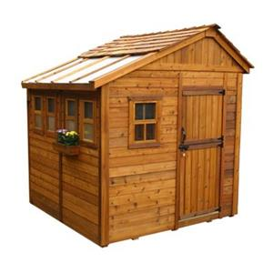 Outdoor Living Today 8-ft x 8-ft Cedar Sunshed Garden Shed ,