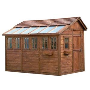 Outdoor Living Today 8-ft x 12-ft Cedar Sunshed Garden Shed
