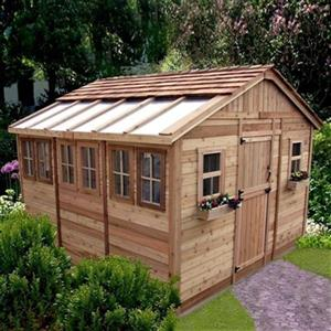 Outdoor Living Today 12-ft x 12-ft Cedar Sunshed Garden Shed