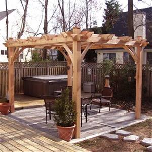 Outdoor Living Today BZ810 8-ft x 10-ft Cedar Breeze Pergola