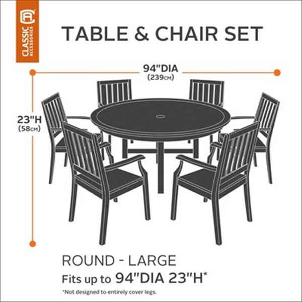 Classic Accessories 582 Terrazzo Patio Table and Chair Set C