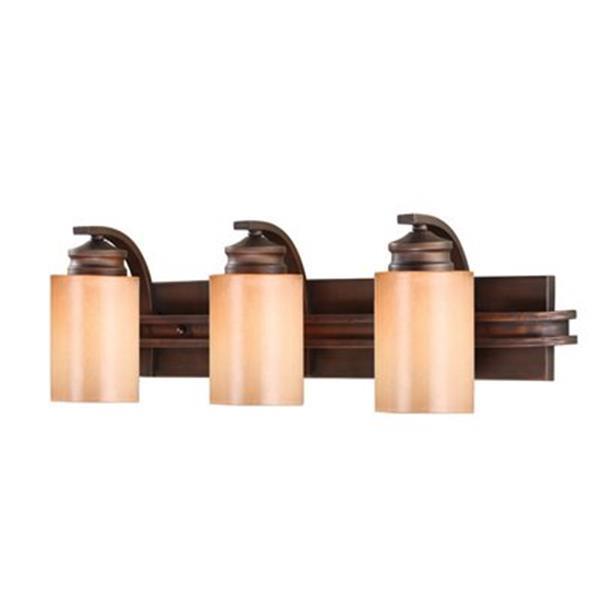 Golden Lighting 1051-BA3 SBZ 3 Light Hidalgo Bathroom Light,