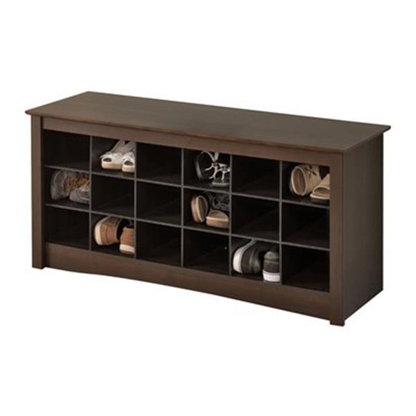 Prepac Furniture Shoe Storage Cubbie Bench,ESS-4824