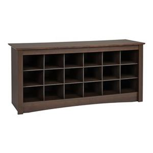 Prepac Furniture Shoe Storage Cubbie Bench,ESS-4824
