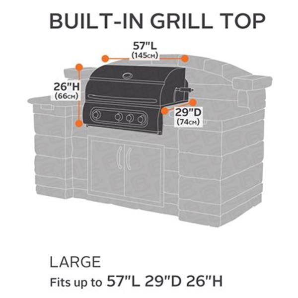 Classic Accessories 55-05 Veranda Patio Island Top Grill Cov