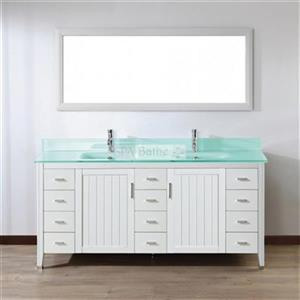 Spa Bathe 72-in JAQ Series Double Vanity,JA72WHT-MG