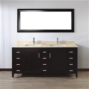 Spa Bathe 72-in JAQ Series Double Vanity,JA72CH-GB