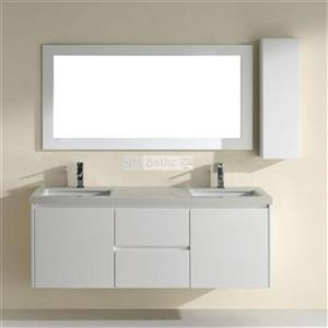 Spa Bathe 63-in Bach Series Double Vanity,BA63WHT-NQZ
