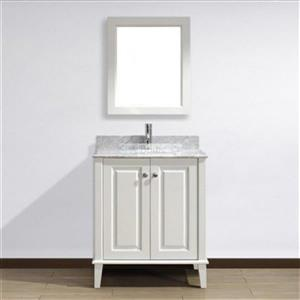 Spa Bathe 30-in Lauren Series Bathroom Vanity,LE30WHT-CWM