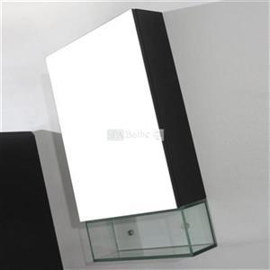 Spa Bathe Storage Mirrored Cabinet with Glass Shelf,MCG18CH