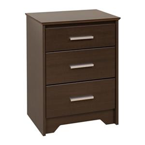 Prepac Furniture Coal Harbor Tall 3-Drawer Nightstand,ECH-20